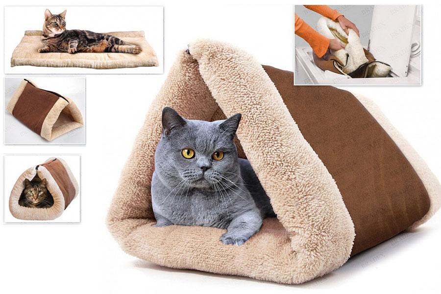 Как сделать домик для кошки своими руками картинки