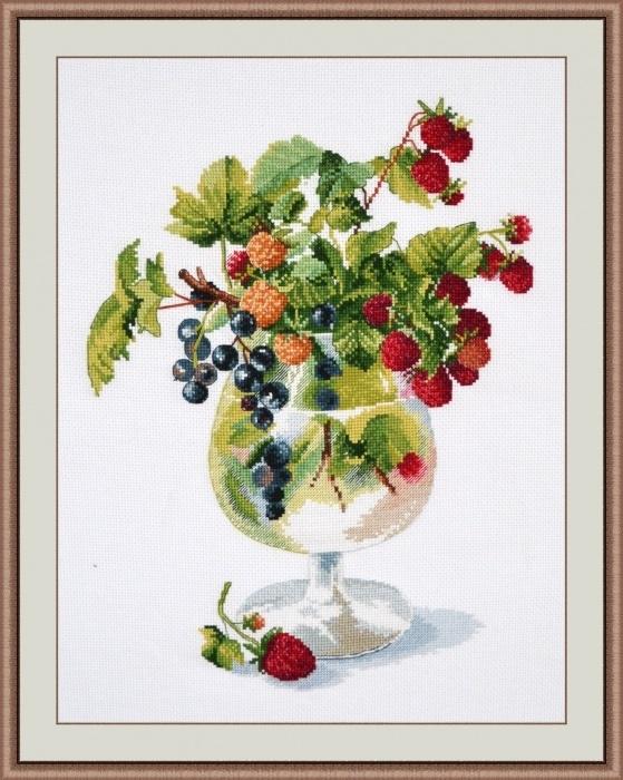 Вышивка фрукты ягоды 20
