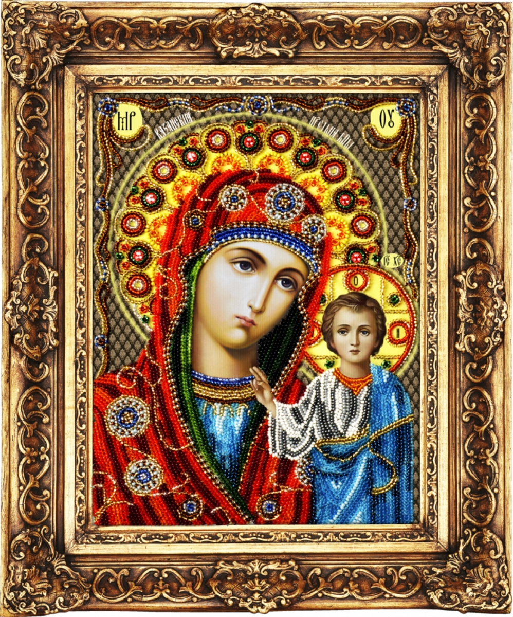казанская икона божей матери схема вышивки крестом